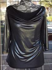 New Plus Size Shimmery Drape Neckline 3/4 Sleeve Dressy Fashion Bug Blouse Sz.1X