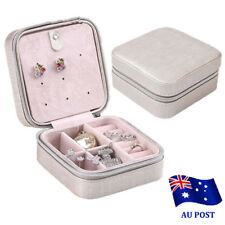 Cosmetic Leather Jewelry Box Necklace Ring Travel Storage Case Organizer EA