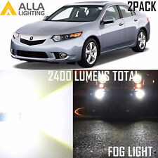 Alla Lighting Fog Light H11 Super Bright 6000K White LED Bulbs for Acura TSX ZDX