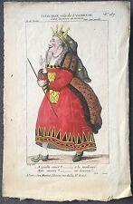 TIERCELIN Gravure rehaussée COSTUME Theatre Petite galerie dramatique 1806