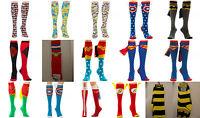 Wonder Woman Batman,The Flash, Superman Dc Comics Knee High Socks