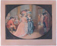 Antique Engraving Print 1781 Mezzotint English Carlisle House London John Smith