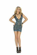 Animal print Mini Dress Chemise Clubwear sexy lingerie Leopard 1579 New Rave New