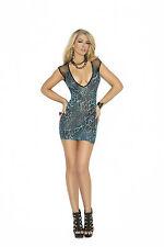 Animal print Mini Dress Chemise Clubwear sexy lingerie Leopard 1579 New Rave New