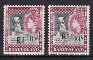 Basutoland 71 II + III postfr. /mnh Freimarken 1961