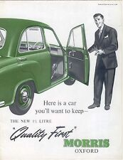 Morris Oxford Series II Saloon 1955-56 Original UK Foldout Brochure No. H&E 558