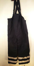 Nasco Flame Resistant Blue Heavy Quilted Insulated Bib Overalls Reflective Large