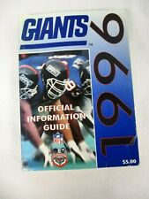 1996 NEW YORK GIANTS OFFICIAL INFORMATION GUIDE