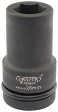 Draper Expert 26mm 2.5cm embout carré Hi-Torq 6 points Douille à impact profonde
