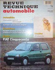 Revue technique FIAT CINQUECENTO 899 et 1108 cm3 RTA 571 1995 + 405 VISA C15 D