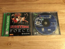 Fighting Force 1 & 2 (PlayStation PS1)  *Nice* Fast Shipping!