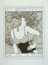 Moebius - Les Jardins d'Eros with original signed drawing - Rarity