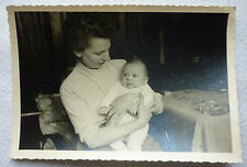 vintage photo OLSCHANSKY Bad Ems 50's Mother with Baby Agfa Brovira