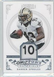 2012 National Treasures Century Materials NFL Tag 1/1 Darren Sproles #31 Patch