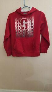Stanford Hooded Sweatshirt Hoodie Size Youth 8-10 Polyester Stadium Athletics