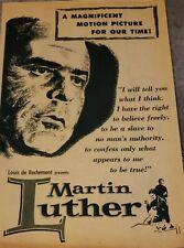 1953 Martin Luther Film Program Flyer