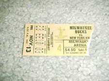 1981 New York Knicks v Milwaukee Bucks Basketball Ticket 11/13