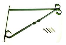 * 6 x Staffa per 14 in (ca. 35.56 cm) in plastica verde da cesto sospeso in acciaio verniciato e i fissaggi