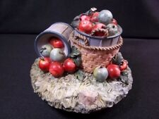 Home Interiors resin candle jar capper Baskets of Apples