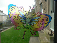 Multicoloured Dragonfly Stained Glass Effect Window decoration Sticker LSSE4