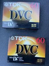 2 Pcs Brand New Sealed Tdk 60 Mini Dvc Upc 020356371401 Blank Tape 60/Sp 90/Lp