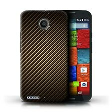STUFF4 Phone Case for Motorola X/Z Smartphone/Carbon Fibre Effect/Pattern/Cover