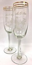 Mis Quince Anos Champagne Toasting Glass Flutes Quinceanera Birthday Party