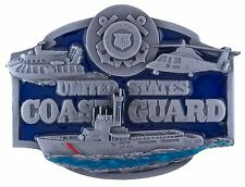 United States Coast Guard - 3D Colored Enamel Belt Buckle - BRAND NEW!