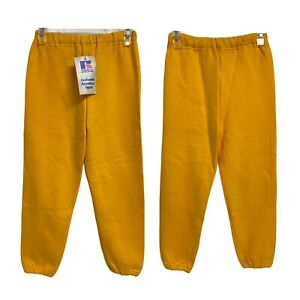 Russell Athletic Yellow Sweatpants Youth M- Made in the USA (E-1G)