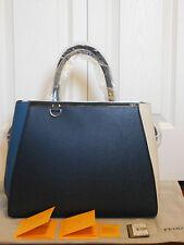 New Authentic Fendi 2Jours Colorblock Leather Shopper Tote Shoulder Bag Handbag