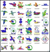 34 Duck Files Embroidery Digitized Stitches Design to run  Machine