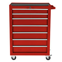 Bentley 25'' Metal Tool Box Rollcab Rolling Cabinet office Storage - Red