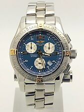 Breitling Emergency Mission Two Tone Blue Dial B73321 Serviced at Breitling