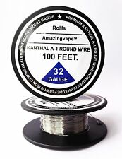 200 feet Kanthal A1 Round Wire 32AWG,(0.20mm), A-1 Resistance Resistor 32Gauge