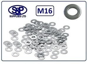 """M16 -16MM - 5/8"""" STAINLESS STEEL WASHER FORM A ST/ST 30MM OD, 3.0MM THICK"""