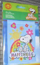 Nip Rare Peanuts Woodstock Rainbow Happiness Snoopy Large Christmas gift Flag