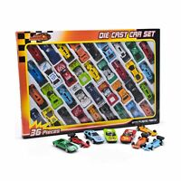 36 PC DIE CAST CAR MODEL SET F1 CONVERTIBLE RACING CARS KIDS TOY PLAY SET 015...
