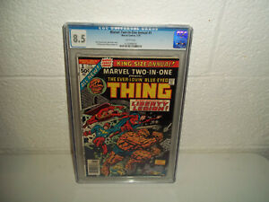 MARVEL TWO IN ONE ANNUAL #1 50 CENT COMIC CGC GRADED 8.5