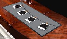 Runner grigio da tavolo con foto Polaroid appese, da bar, per ogni occasione