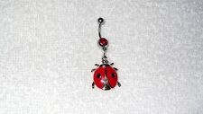Lucky Ladybug Insect Bug Charm Belly Button Navel Ring Body Jewelry Sexy Dancer