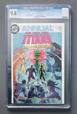 NEW TEEN TITANS ANNUAL #1 • CGC 9.8 WHITE PAGES NM/M • 1st App The Vanguard DC