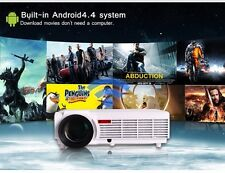 """5500 lumens Full HD Android 4.4 bluetooth, 3D Wifi Projector + FREE 100"""" Screen"""