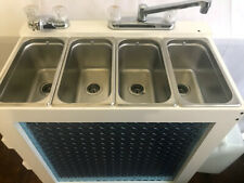Portable Concession Sink 3 Compartment Sinkhand Sink Hot Water 120v Electric