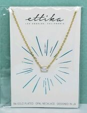 Ettika 18k Gold Plated Brass + Kyocera Opal Necklace - Brand New in Packaging