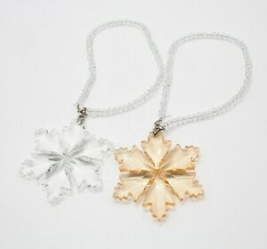 StylesILove Christmas Holiday Crystal Snowflake Decorative Hanging Ornaments