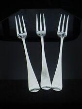 3 Silver Dessert Forks, 3 Tine, London 1905, Holland, Aldwinckle & Slater