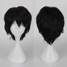 Reusable Short Full Wig Anime Cosplay Party Daily Dress Purple Orange Green FW