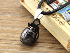 Vogue Goth Silver Tone Men Stainless Steel Grenade Pendant Charm For Necklace