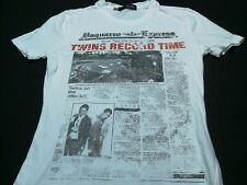 DSQUARED2 Newspaper Nice Art Design T Shirt Italy Dean & Dan Hip Hop Rap Girl S