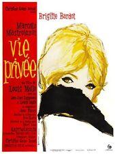 Vie privee 1962 Brigitte Bardot Marcello Mastroianni movie poster  print